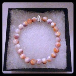 Jewelry - Coral & Lilac Jade Stone Bracelet
